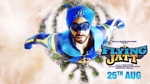 A Flying Jatt Motion Poster starring Tiger Shroff, Jacqueline Fernandez