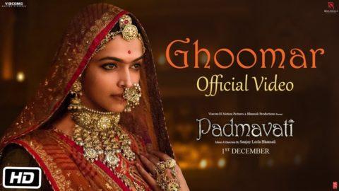 Ghoomar Song from Padmavati ft Deepika Padukone, Shahid Kapoor